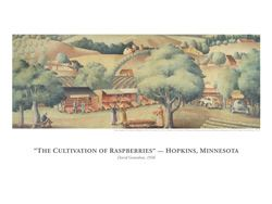 Cultivation of Rasperries Limited Reproduction Art Poster 12 inches by 16 inches