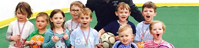 Youth Soccer Players With Medals